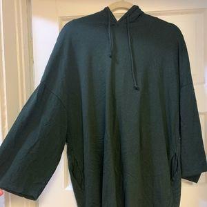Zara Black Thin Oversized Hoodie